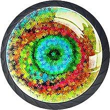 Black Drawer Knobs Floral Rainbow Dresser Knobs