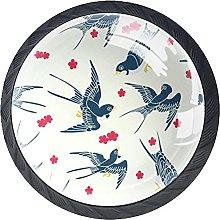 Black Drawer Knobs Flying Bird Dresser Knobs Round