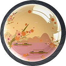 Black Drawer Knobs Peach Blossom Dresser Knobs