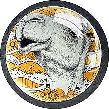 Black Drawer Knobs Retro Camel Dresser Knobs Round