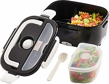 Black Electric Heated Portable Compact Food Warmer