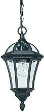 Black Exterior Hanging Porch Lantern Pendant Light