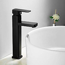 Black Faucet Bathroom Nordic Square Paint Cold