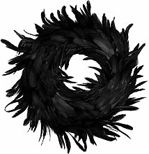 Black Feather Front Door Ornaments Party