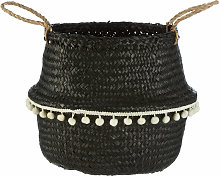 Black Finishing Basket Storage Solution For Pantry