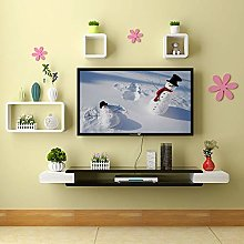 Black Floating Wall Shelf TV Cabinet TV Cabinet