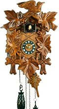 Black Forest cuckoo clock made of real wood, with