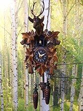 Black Forest Cuckoo Clock Quartz Carved Stag