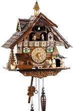Black Forest Cuckoo Clock Wooden Uses battery