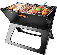 Black Freestanding Portable Charcoal Barbecue