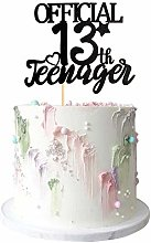 Black Glitter 13 Official Teenager Cake Topper