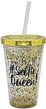 Black Gold Glitter Girly Reusable Plastic Cooler