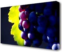 Black Grapes Kitchen Canvas Print Wall Art East
