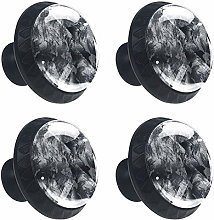 Black Gray Abstract Drawer Cabinet Knobs Wardrobe