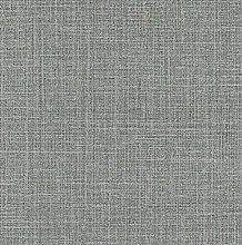 Black Grey Glitter Plain Woven Linen Effect Vinyl