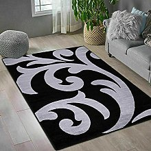 Black Grey Home Decor Large Area Rug Living Room