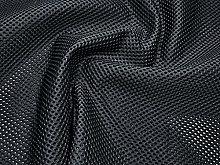 Black Heavy Duty Mesh Fabric by The Metre Fish-net