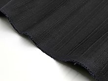 Black Herringbone Cotton Fabric by The Metre for