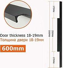 Black Hidden Cabinet Handle Aluminum Alloy Kitchen