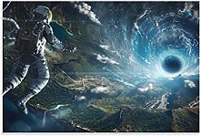 Black Hole in Space Canvas Art Poster and Wall Art