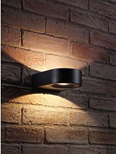 Black Integrated LED Contemporary Ring Design