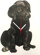 Black Labrador Puppy Clock - Black Labrador Clock