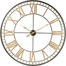 Black Metal Clock D120