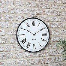 Black Metal Fob Wall Clock