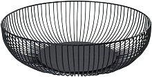 Black metal fruit basket 18 x 6 x 8.5 cm