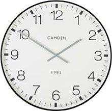 Black metal printed clock D74cm