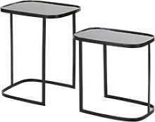 Black Metal Side Tables (x2)