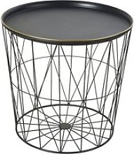 Black Metal Wire Side Table