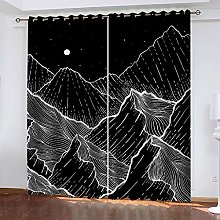 Black Mountain Thermal Blackout Curtain 234 (W) x
