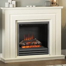 Black Nickel Electric Fireplace Suite with Soft