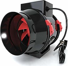Black Orchid Mixed-flo in Line Extractor Fan with