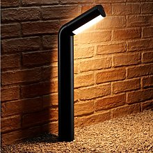 Black Outdoor 13w Integrated LED Warm White Path