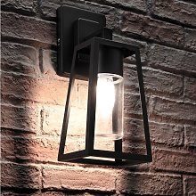 Black Outdoor Hanging E27 LED Candle Lantern Wall