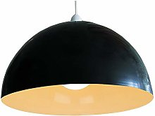 Black Painted Metal Vintage None Electric Dome