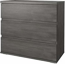 Black Pine FABIO Chest of Drawers Cabinet with 3