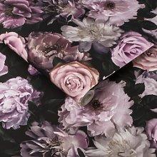 Black & Pink Floral Fresco Wallpaper