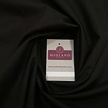 Black Plain Poly Cotton Fabric - Dress Craft 44