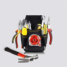 black professional electrician tool belt with