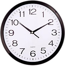 """Black Quartz """"No tick"""" silent Wall Clock-"""