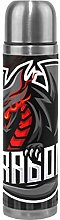 Black Red Dragon Water Bottle Stainless Steel