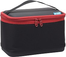 Black & Red Hard Case Lunch Bag