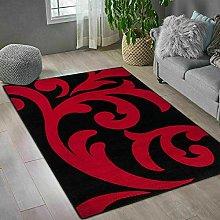 Black Red Home Decor Large Area Rug Living Room