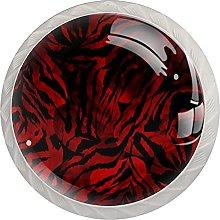 Black Red, Modern Minimalist Printing Cupboard