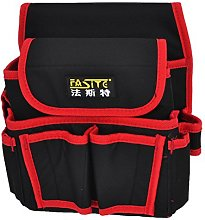 Black Red Nylon Canvas Electrician Tool Holder Bag