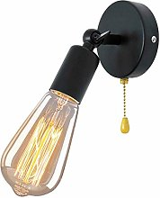 Black Retro Wall Lamp Light with Pull Switch