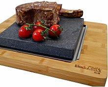 Black Rock Grill Big Sizzling Steak on a Stone